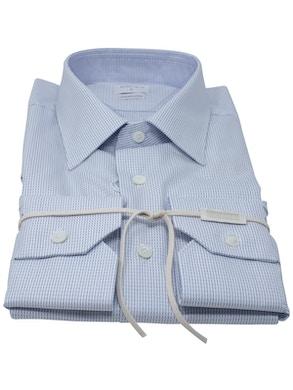 Blue dash shirt Italian collar