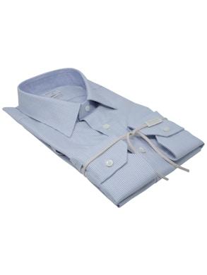 Camicia trattino blu collo Italia nuovo
