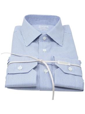 Camicia pois blu collo Italia nuovo