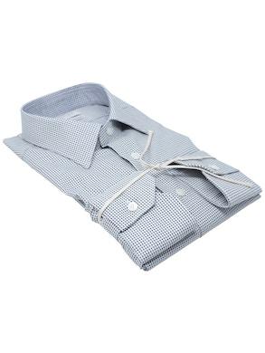 Black Polka Dots shirt Italian collar