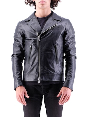 Chiodo jacket black leather