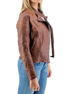Chiodo jacket brown leather