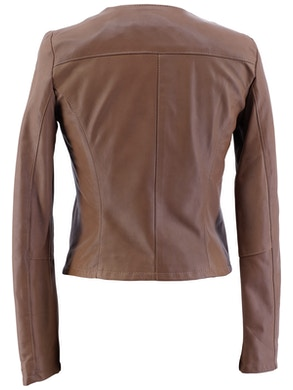 Light brown leather biker