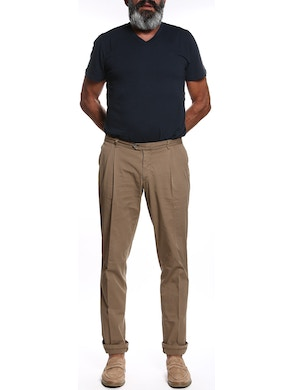 Mud colored trousers with double pence