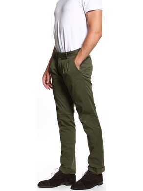 Green trousers with double pence