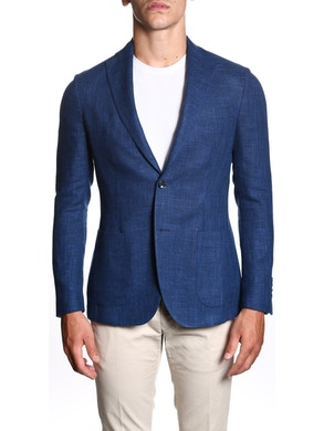 Blue single breasted jacket