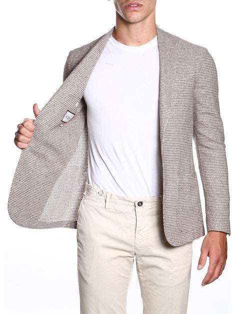 Beige Pied de poule jacket
