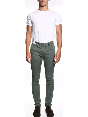 Twill sage trousers