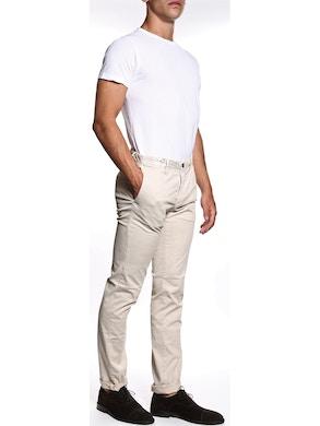 Twill beige trousers
