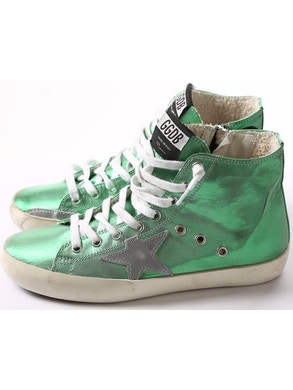 Green sneakers silver star
