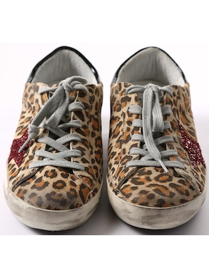 Leopard shoes bordeaux star