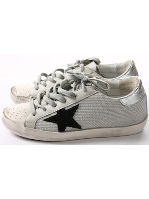 White sneakers black star