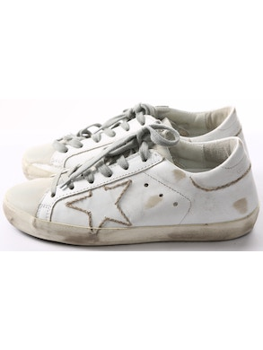 White sneakers white star