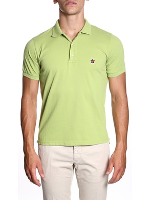 Acid green polo shirt