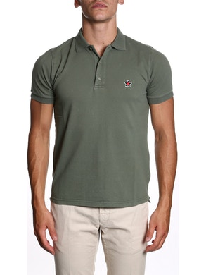 Military green polo shirt