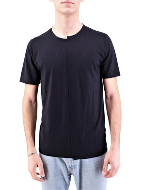 Black asymmetrical t-shirt