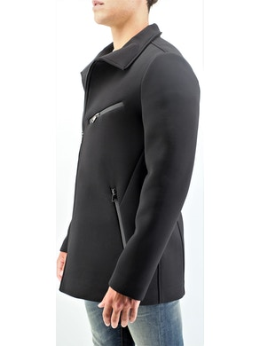 Black technical coat