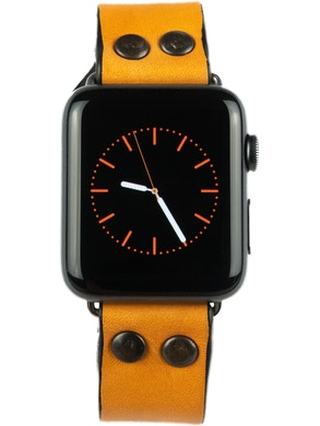 Strap the Apple watch Yellow
