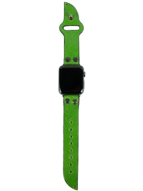 Cinturino Apple watch in pelle Verde acido