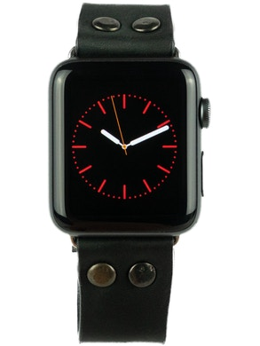 Apple watch strap Black leather