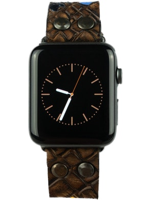 Cinturino Apple watch Marrone con inserti colorati