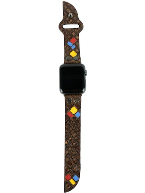 Apple watch strap Brown with inserts