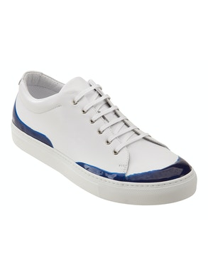 White and blue shoes