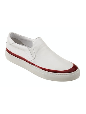 White and red slip on