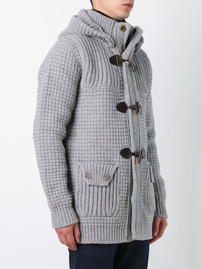 Light grey duffle coat