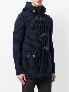 Blue duffle coat