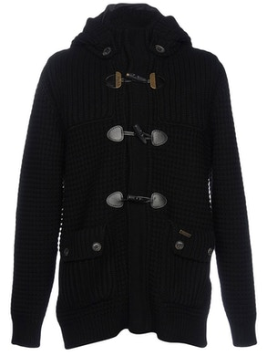 Black duffle coat