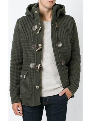 Khaki duffle coat