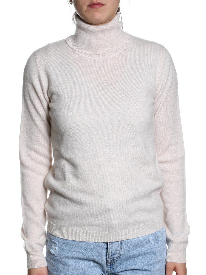 hot sale online 60b5d 5bb4e 100% CASHMERE TURTLENECK SWEATER – Chalk | Italian Grace