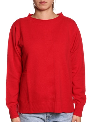 MAXI SWEATER WOOL & CASHMERE – Red