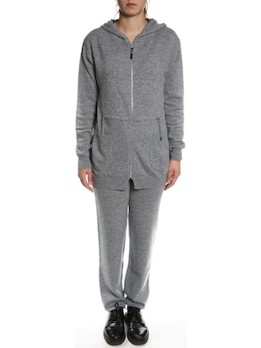 Sweatsuit with sweatshirt and trousers in pure cashmere - Grey