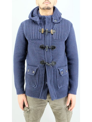 indigo blue duffle coat