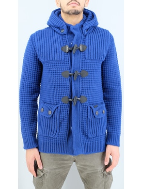 electric blue duffle coat