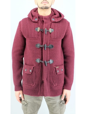 bordeaux duffle coat