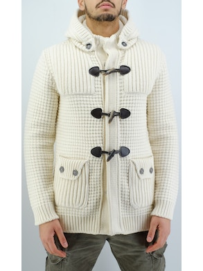 white duffle coat