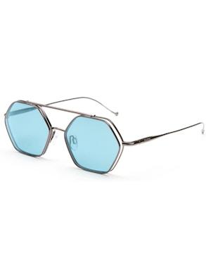 Occhiale vista/sole con lente ribaltabile color azzurro