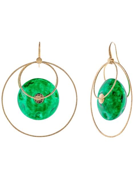 Silver emerald ovals