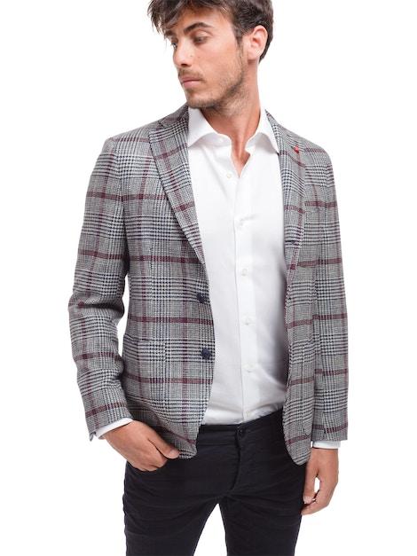 Glen plaid jacket