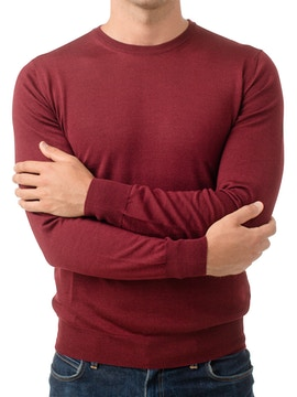 bordeaux round collar sweater