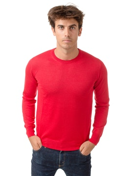 red round collar sweater
