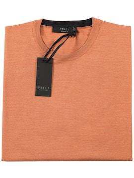 maglia girocollo finezza 18 color salmone