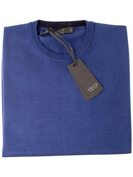 royal blue round collar sweater