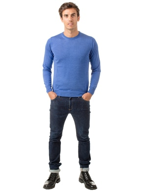 ocean round collar sweater