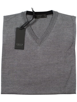 iron v-neckline sweater
