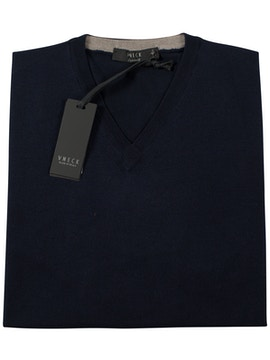 navy blue v-neckline sweater