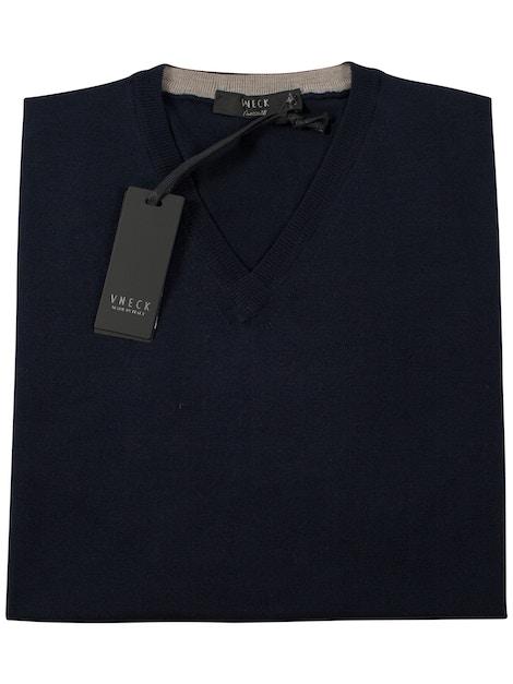 navy blue v-neckline sweater